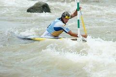 Campeonatos europeus do slalom da canoa, Cunovo (SVK) Imagens de Stock