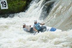 Campeonatos europeus do slalom da canoa, Cunovo (SVK) Imagens de Stock Royalty Free