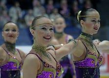 Campeonatos finlandeses 2010 - patinagem sincronizada Imagem de Stock