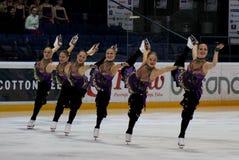Campeonatos finlandeses 2010 - patinagem sincronizada Fotografia de Stock Royalty Free