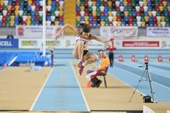 Campeonatos interiores del atletismo balcánico Imágenes de archivo libres de regalías