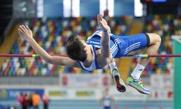 Campeonatos interiores del atletismo balcánico Imagen de archivo libre de regalías
