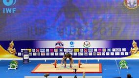 Campeonatos internacionales 2017 del mundo de la juventud de la federación IWF del levantamiento de pesas almacen de metraje de vídeo