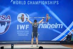 2017 campeonatos mundiais internacionais da federação do halterofilismo Foto de Stock