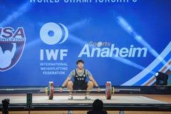 2017 campeonatos mundiais internacionais da federação do halterofilismo Foto de Stock Royalty Free