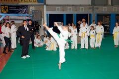 Campeonatos Taekwon-do fotografía de archivo libre de regalías