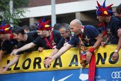 Campeones de la liga de FC Barcelona Imagen de archivo libre de regalías