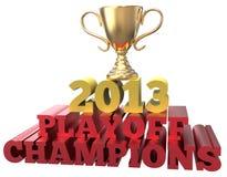 Campeones 2013 de la segunda fase del triunfo del trofeo de los deportes Imagen de archivo libre de regalías