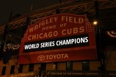 Campeones de serie de mundo de los Chicago Cubs fotos de archivo libres de regalías