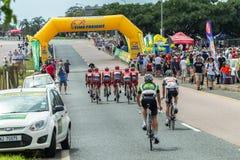 Campeones del camino de ciclo Fotos de archivo