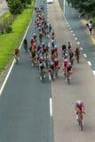 Campeones del camino de ciclo Imagen de archivo libre de regalías