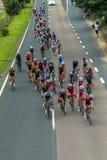 Campeones del camino de ciclo Foto de archivo libre de regalías