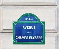 Campeones Elysees del DES de la avenida Fotografía de archivo