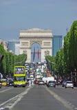 Campeones Elysees, París foto de archivo