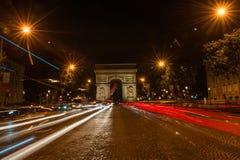 Campeones Elysees París Fotos de archivo