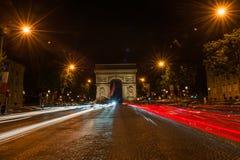 Campeones Elysees París Foto de archivo