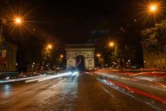 Campeones Elysees París Imagen de archivo libre de regalías
