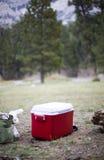 Camper à l'extérieur Photographie stock