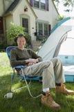 Camper à la maison Photos libres de droits