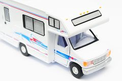 Camper. A camper on the white background Royalty Free Stock Photography