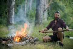 Camper, augmentant, mode de vie images libres de droits