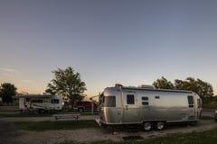 Camper aux Etats-Unis Photographie stock