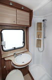 Camper Bathroom Stock Photo