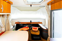 Camper bed Royalty Free Stock Photography