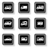 Camper buttons set Stock Images