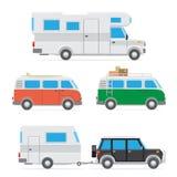 Camper car set Stock Image