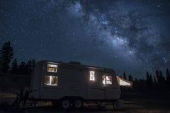 Camper chez aucun Rim Grand Canyon Photographie stock libre de droits