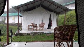 Camper chez Kanatal Photographie stock