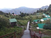 Camper chez Kanatal Photo libre de droits