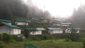 Camper chez Kanatal Images stock