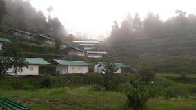 Camper chez Kanatal Photos libres de droits