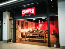 Camper Contemporary designs full collection of shoes and accessories for women, men, and kids store at Birkenhead point. SYDNEY, AUSTRALIA. - On September 28 royalty free stock photos
