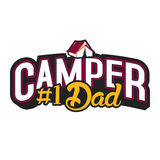 Camper and Dad. Dads are awesome, that special dad in your life Stock Image