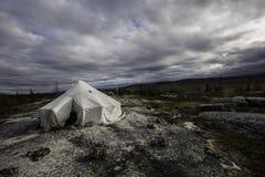 Camper dans le kuujjuaq Photo libre de droits