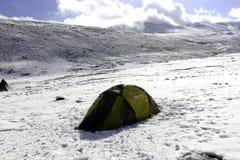 Camper dans Nimaling Image libre de droits