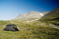 Camper dans Rondane Images stock