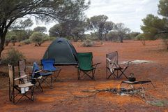 Camper de région sauvage Images libres de droits