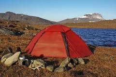 Camper en Laponie Images stock