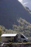 Camper en Norvège Photo libre de droits