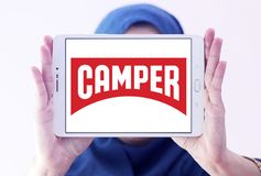 Camper fashion brand logo royalty free stock photography