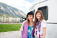 Camper Girls Royalty Free Stock Image