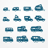 Camper icon set Royalty Free Stock Photography