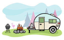 Free Camper Illustration Royalty Free Stock Photo - 25086835