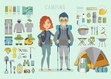 Camper infographic illustration de vecteur