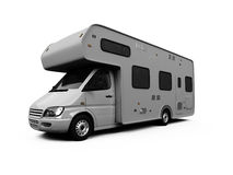 Camper isolated view Stock Photos