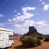 Camper in Monument Valley Stock Photos